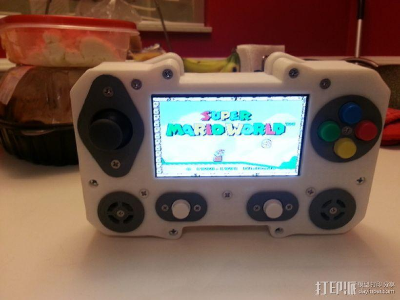 便携式树莓派游戏机模拟装置 3D模型  图4