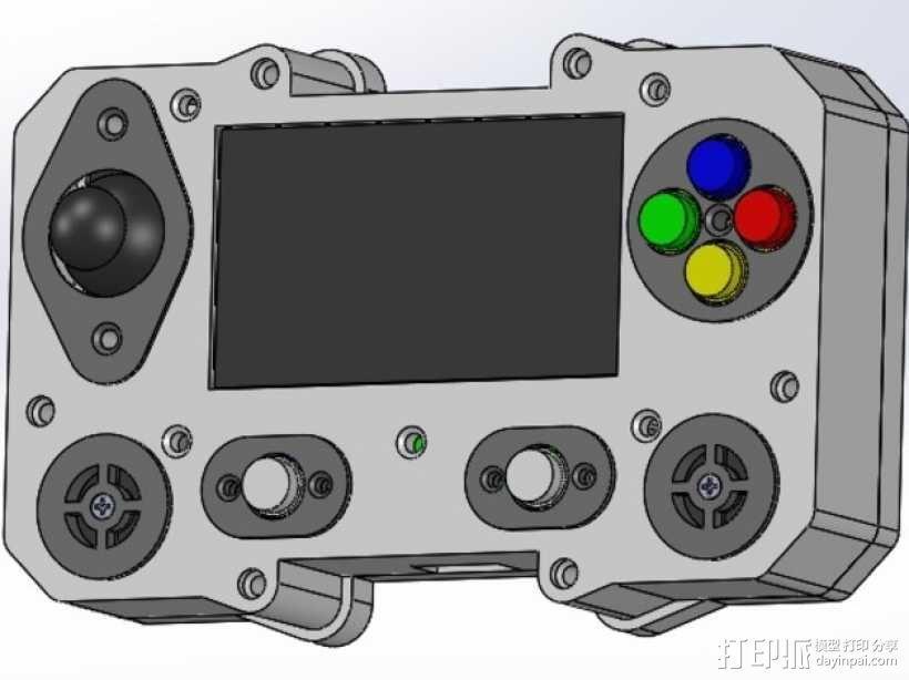 便携式树莓派游戏机模拟装置 3D模型  图6