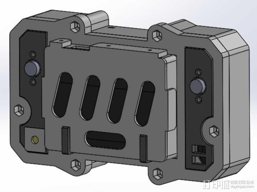 便携式树莓派游戏机模拟装置 3D模型  图8
