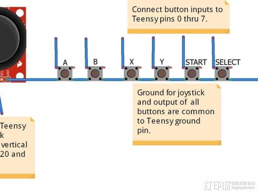 便携式树莓派游戏机模拟装置 3D模型  图14