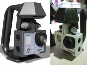 便携式GoPro Hero 3相机固定装置 3D模型