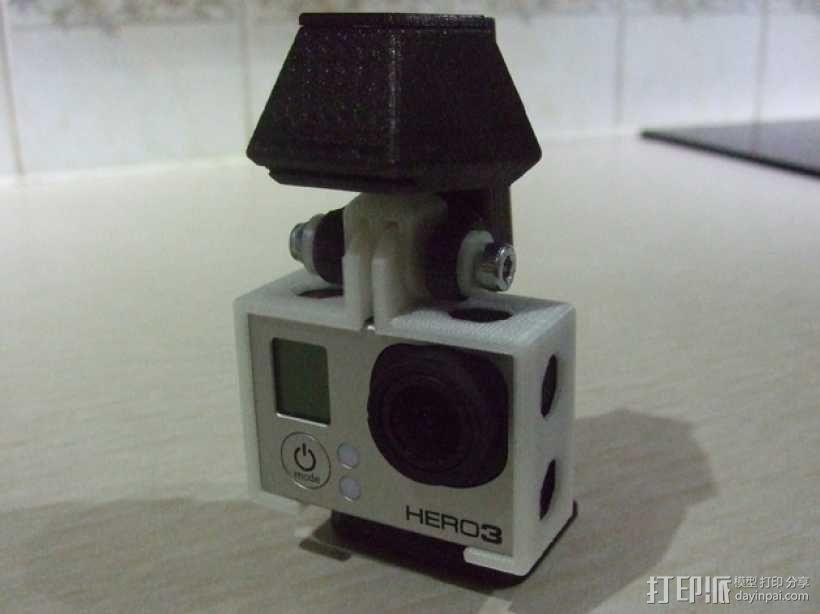 便携式GoPro Hero 3相机固定装置 3D模型  图4