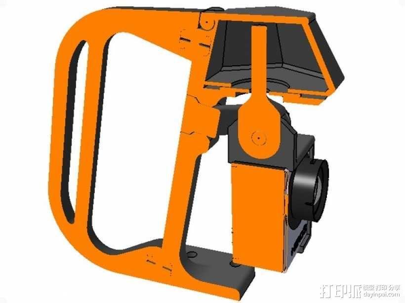 便携式GoPro Hero 3相机固定装置 3D模型  图2