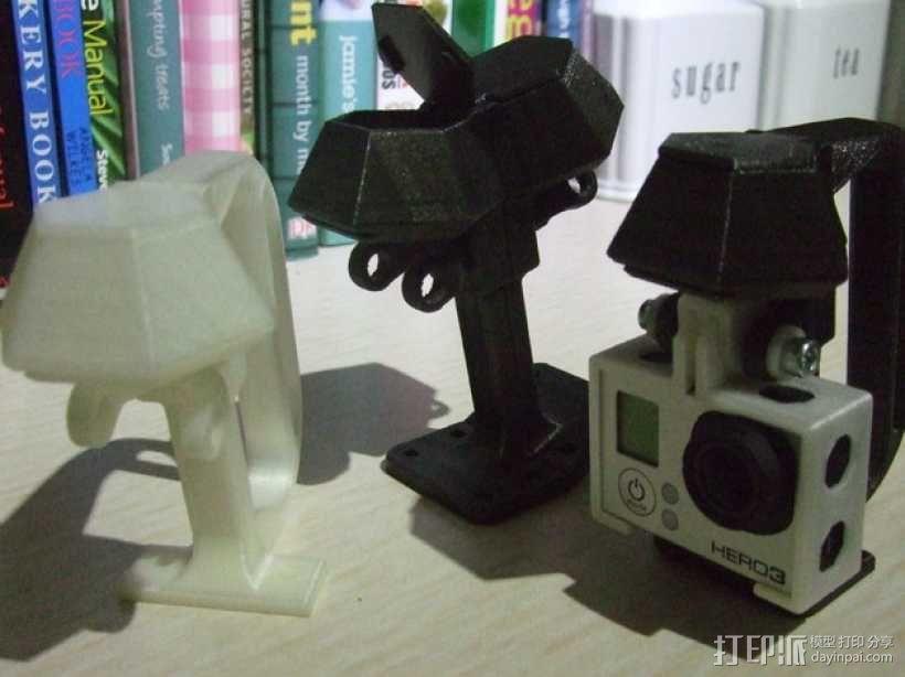 便携式GoPro Hero 3相机固定装置 3D模型  图3