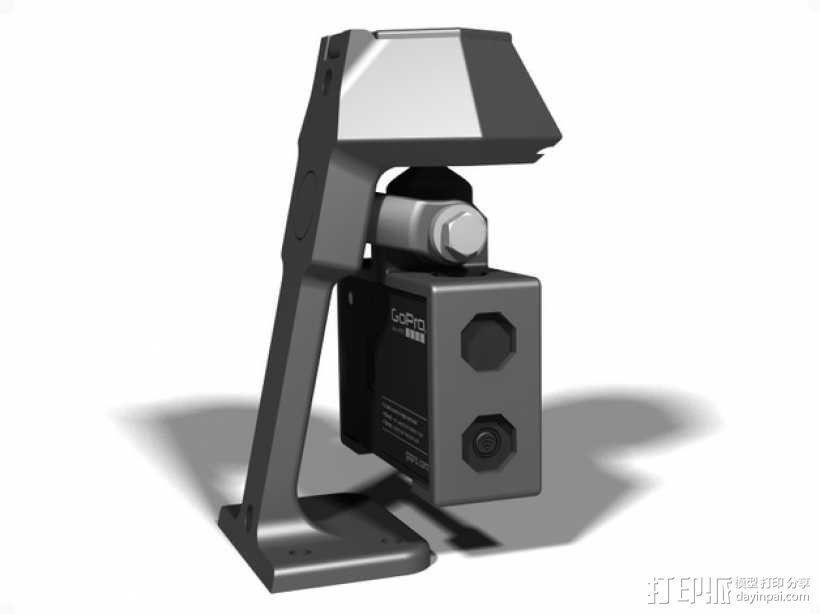 便携式GoPro Hero 3相机固定装置 3D模型  图12