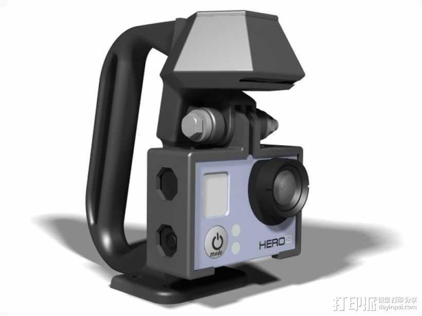便携式GoPro Hero 3相机固定装置 3D模型  图9