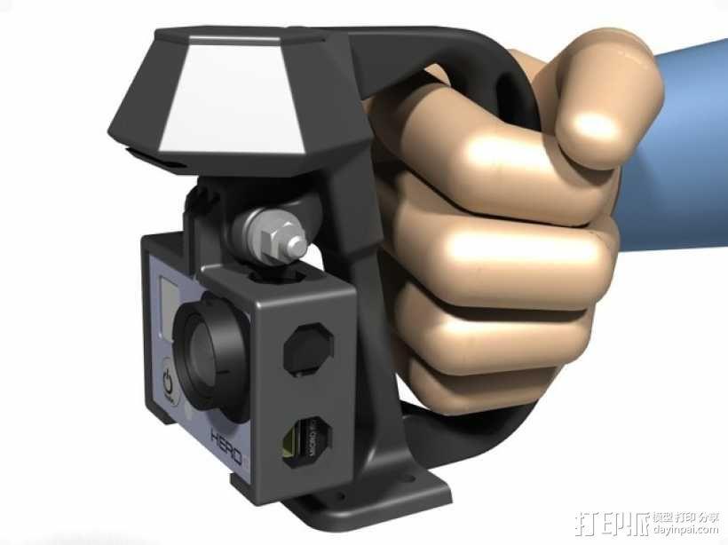 便携式GoPro Hero 3相机固定装置 3D模型  图8