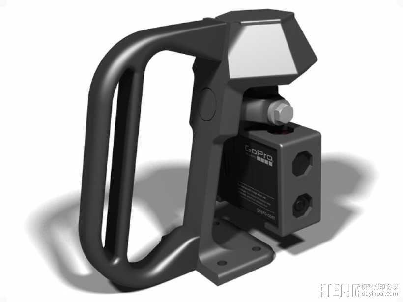便携式GoPro Hero 3相机固定装置 3D模型  图10