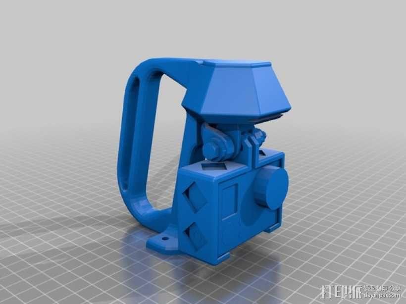 便携式GoPro Hero 3相机固定装置 3D模型  图14