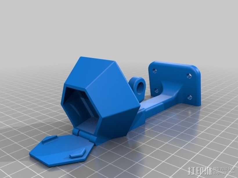 便携式GoPro Hero 3相机固定装置 3D模型  图15