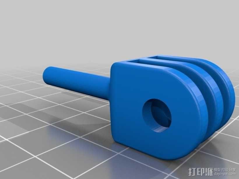 便携式GoPro Hero 3相机固定装置 3D模型  图18