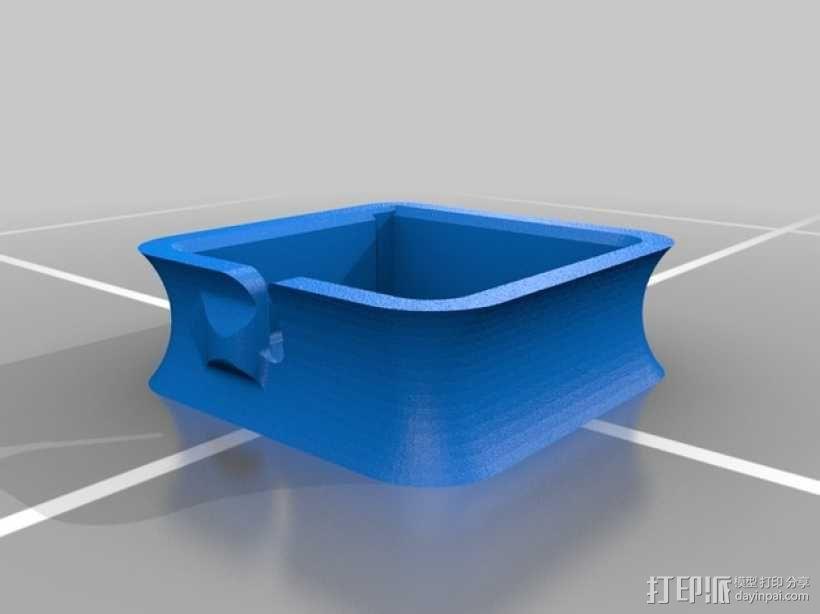 苹果笔记本电脑60瓦充电器绕线器 3D模型  图2