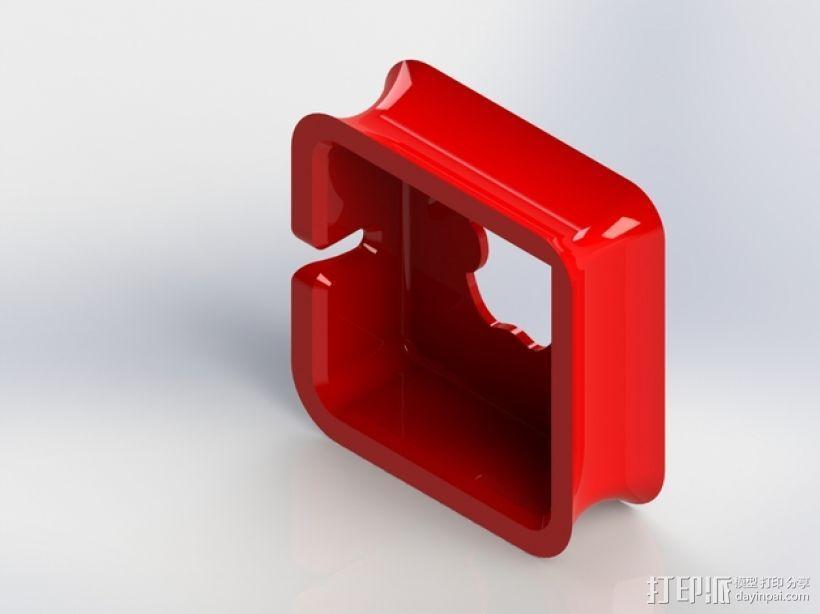 苹果笔记本电脑60瓦充电器绕线器 3D模型  图3