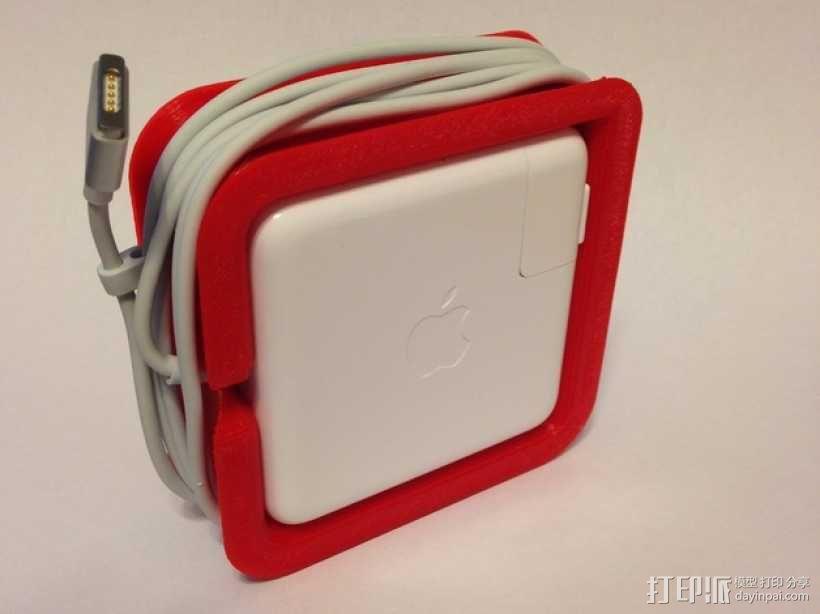 苹果笔记本电脑60瓦充电器绕线器 3D模型  图4