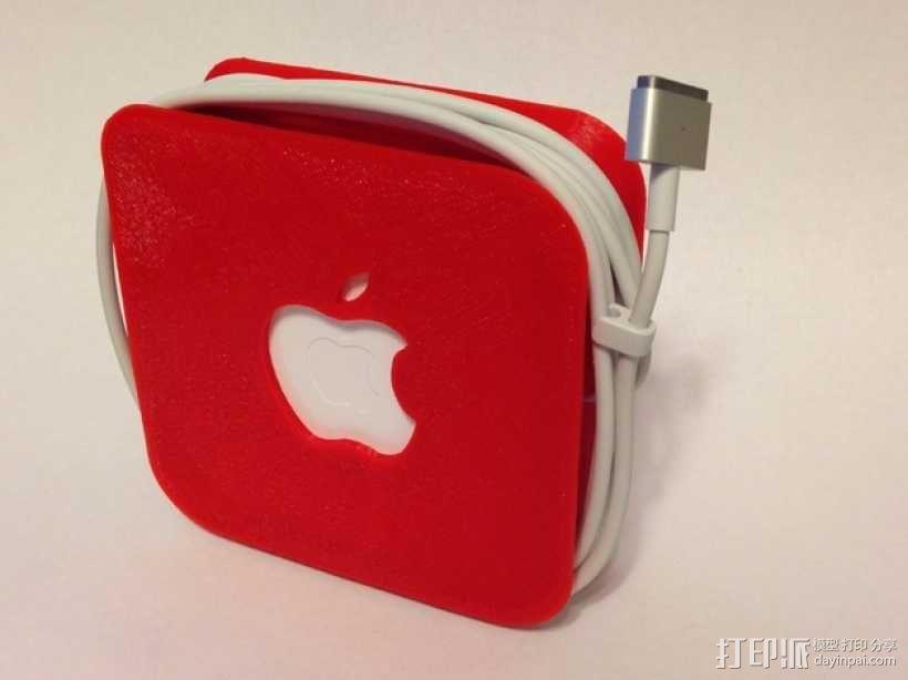 苹果笔记本电脑60瓦充电器绕线器 3D模型  图5