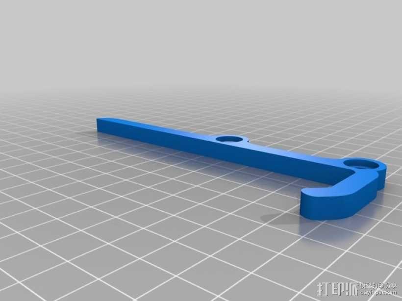 可调节平板电脑支架 3D模型  图2