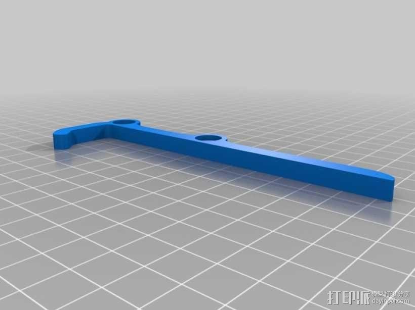 可调节平板电脑支架 3D模型  图3