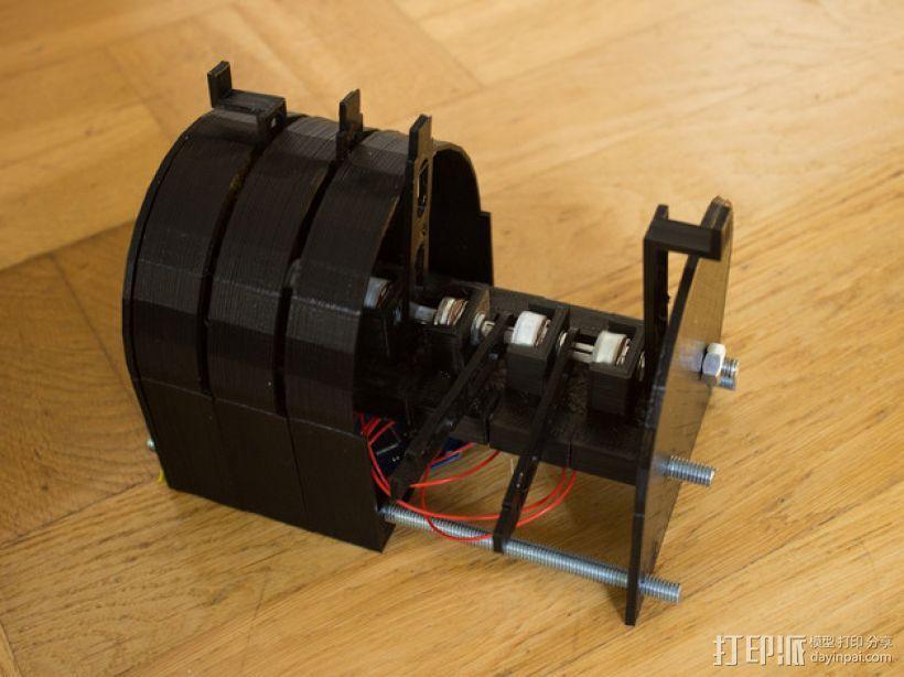 可扩展油门操纵杆 3D模型  图1