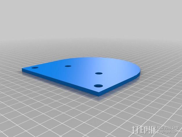 可扩展油门操纵杆 3D模型  图2