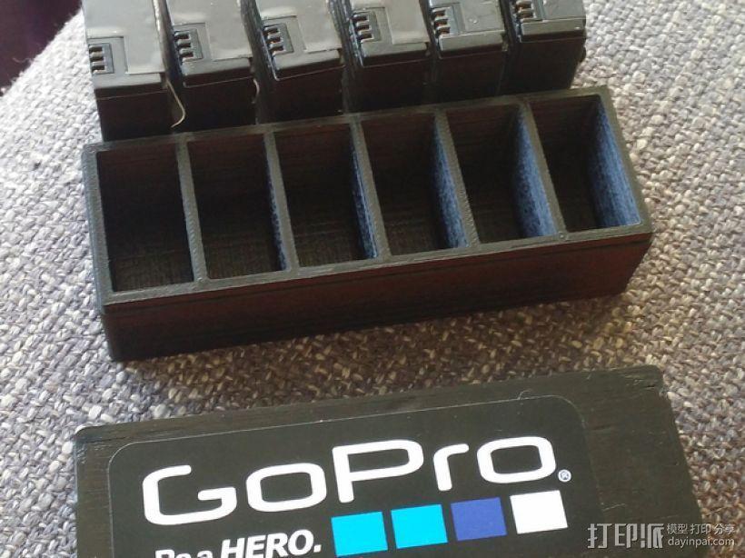GoPro相机电池盒 3D模型  图1