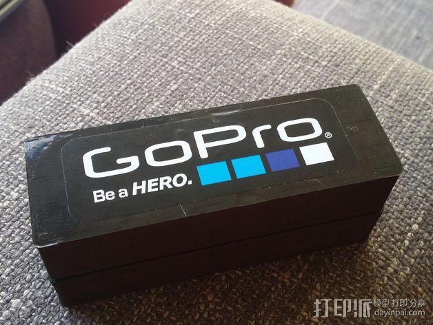 GoPro相机电池盒 3D模型  图2