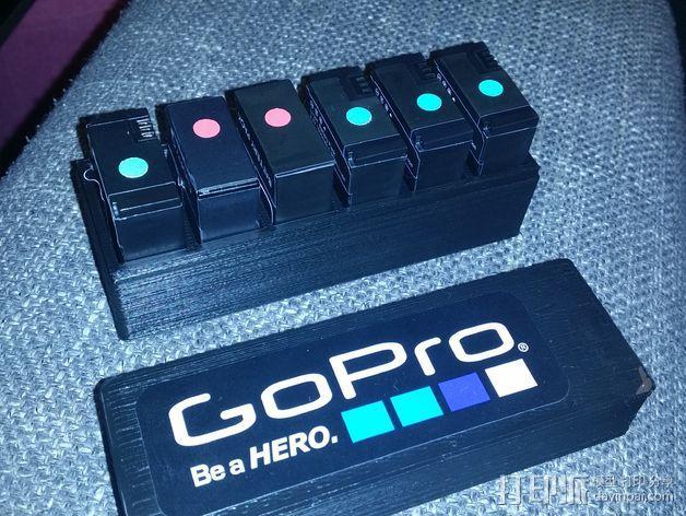 GoPro相机电池盒 3D模型  图4