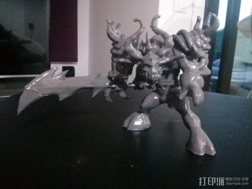 游戏《魔兽世界》牛头人死亡骑士 3D模型  图3