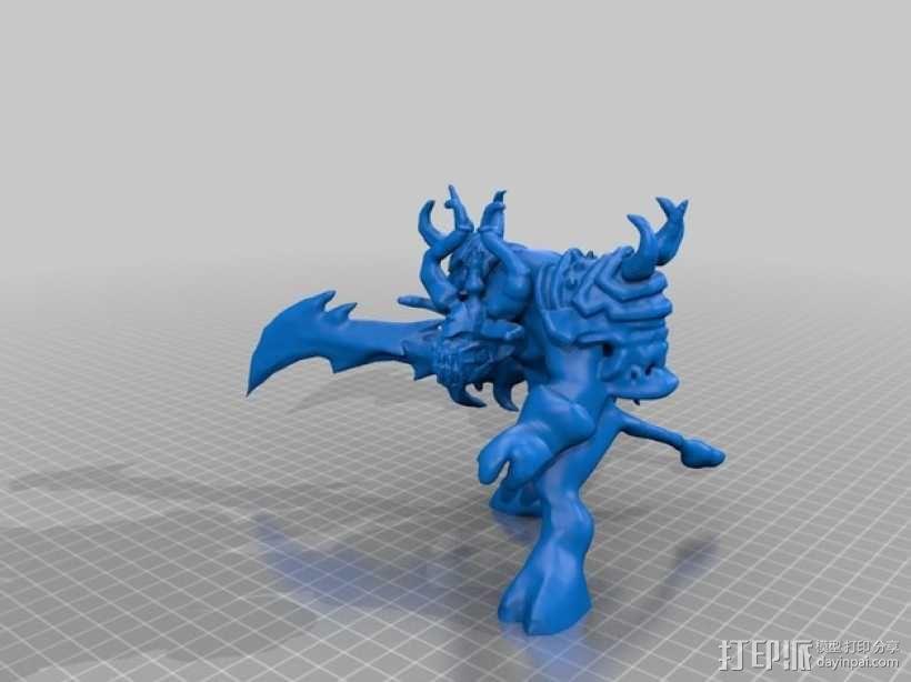 游戏《魔兽世界》牛头人死亡骑士 3D模型  图5