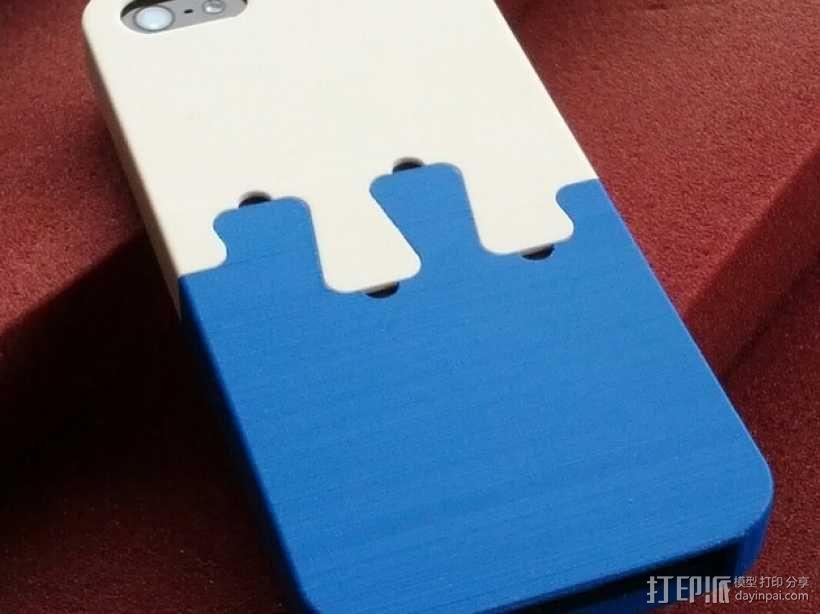 拼图形iPhone5手机套 3D模型  图1