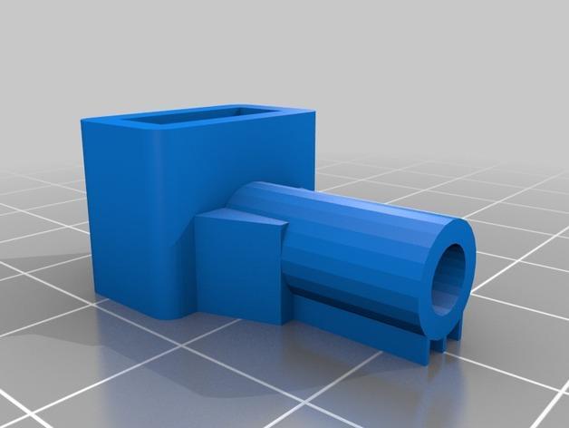 90度直线型USB连接器 3D模型  图2