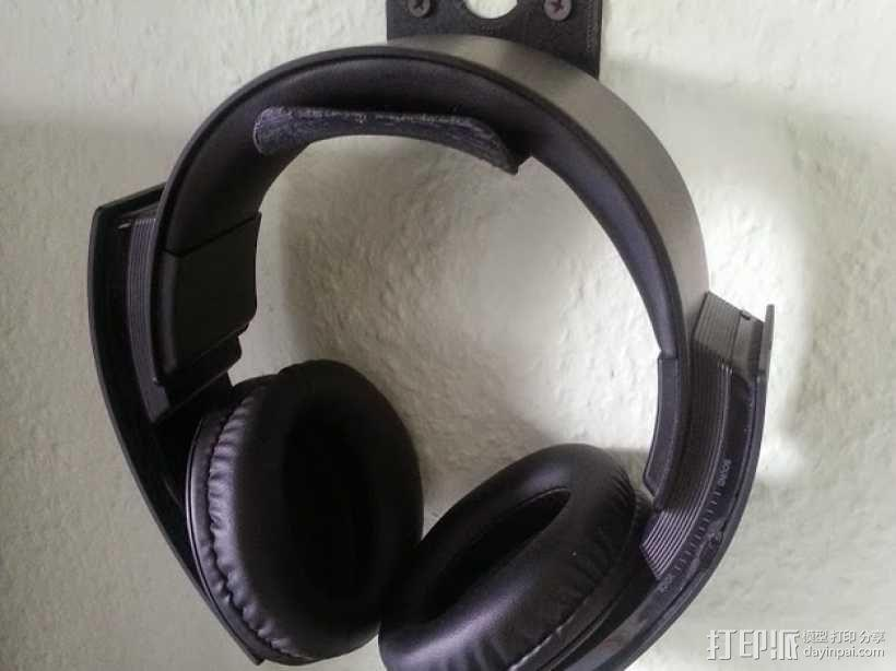 壁挂式耳机架 3D模型  图1