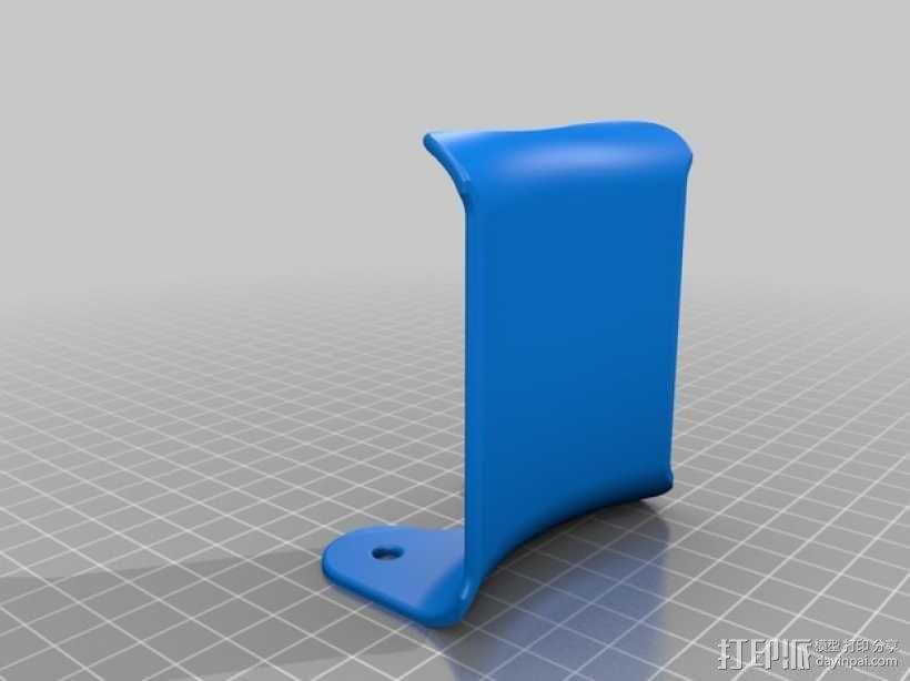 壁挂式耳机架 3D模型  图3