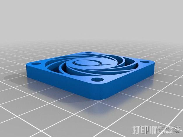 风扇罩 风扇盖 3D模型  图2