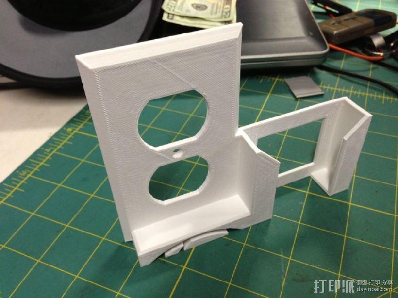 壁挂式手机座 开关盖 3D模型  图5