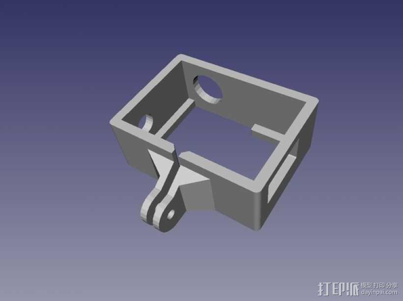 GoPro Hero 3录像机支撑架 固定器  3D模型  图1