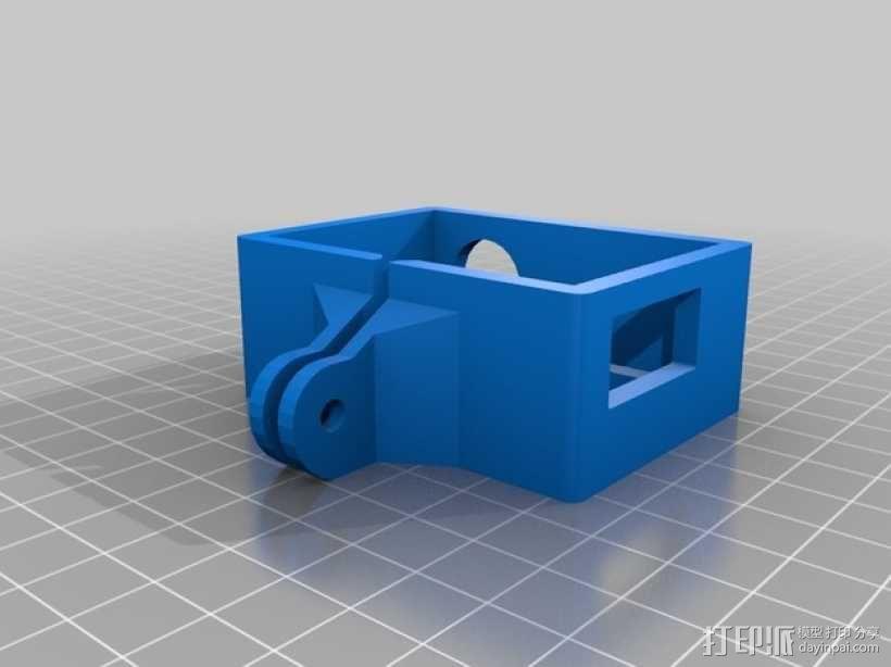GoPro Hero 3录像机支撑架 固定器  3D模型  图2