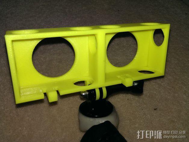 GoPro 3/3+照相机保护壳  3D模型  图1
