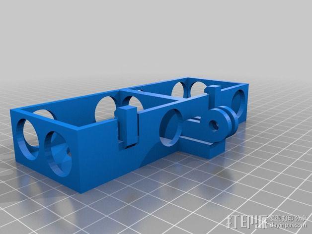 GoPro 3/3+照相机保护壳  3D模型  图2