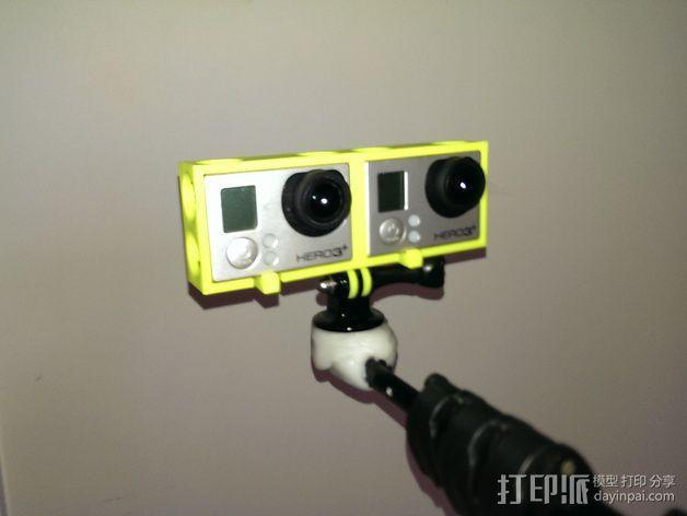 GoPro 3/3+照相机保护壳  3D模型  图5