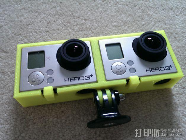 GoPro 3/3+照相机保护壳  3D模型  图6