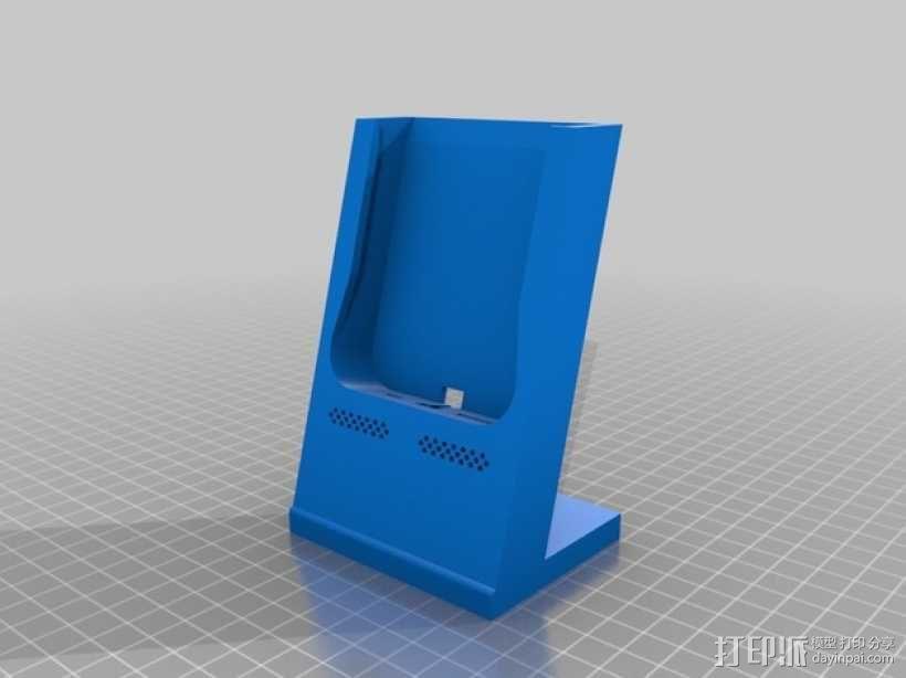 iPhone 5/5s手机充电座  3D模型  图1