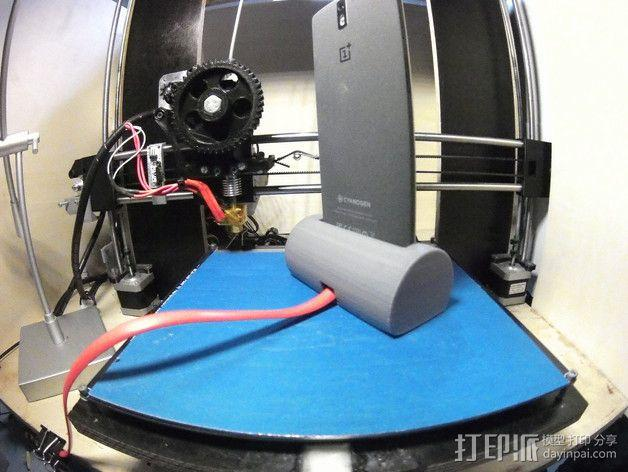 带USB插槽的手机支座  3D模型  图3