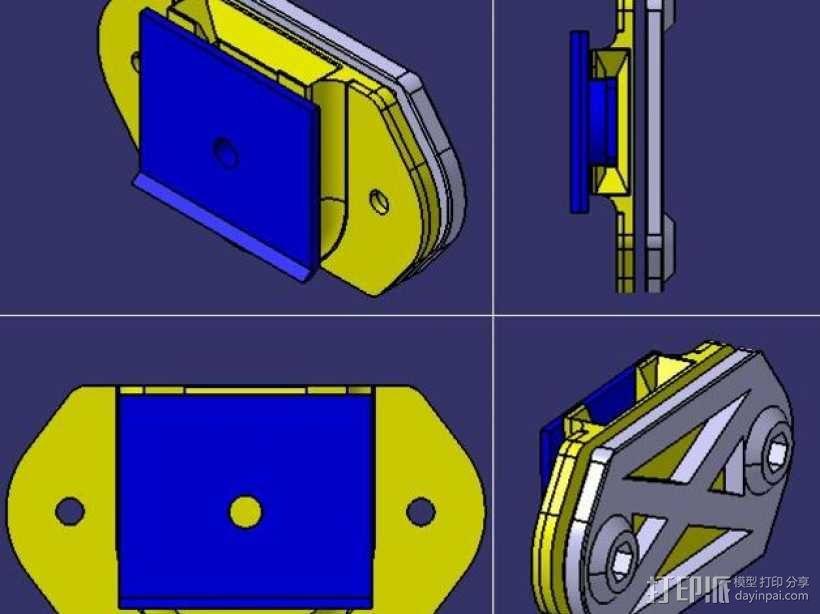 DSLR单反相机固定器 3D模型  图4