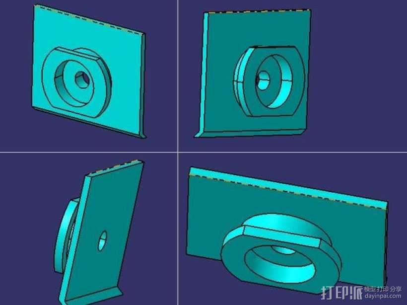 DSLR单反相机固定器 3D模型  图6
