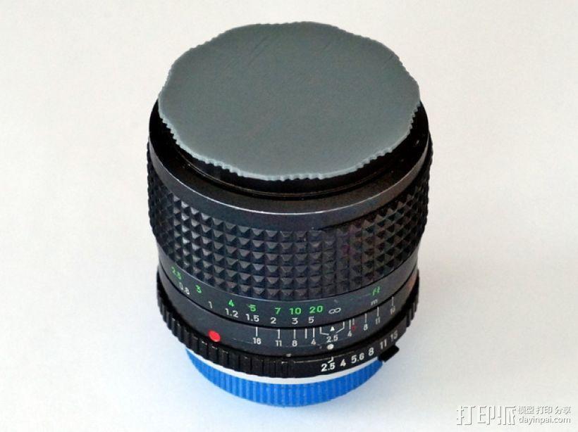 单反相机镜头盖 3D模型  图1