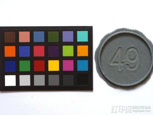 单反相机镜头盖 3D模型  图3