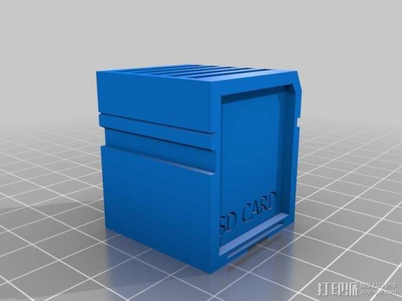 SD 卡收纳槽 收纳盒 3D模型  图1