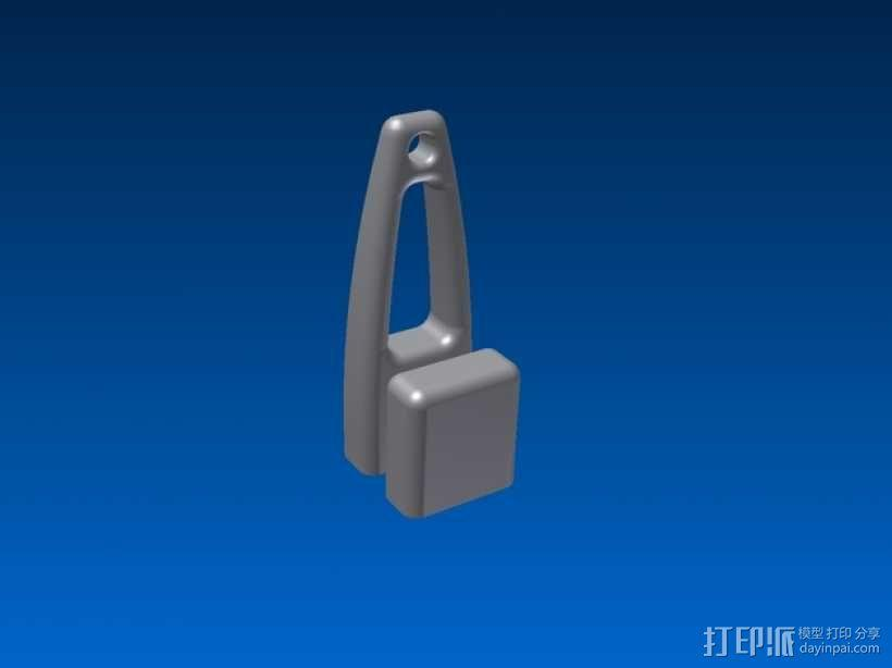 优盘壳  3D模型  图3