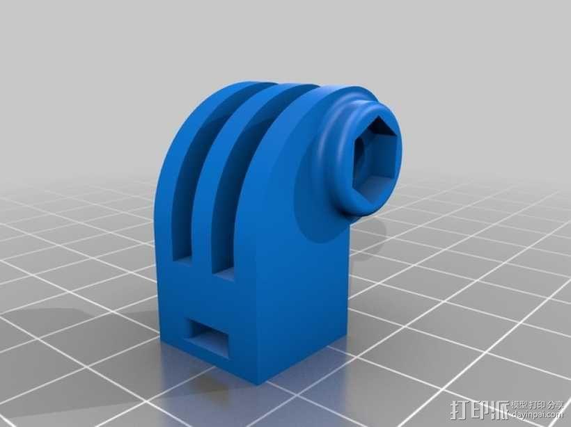 GoPro 相机悬挂式固定座 3D模型  图3