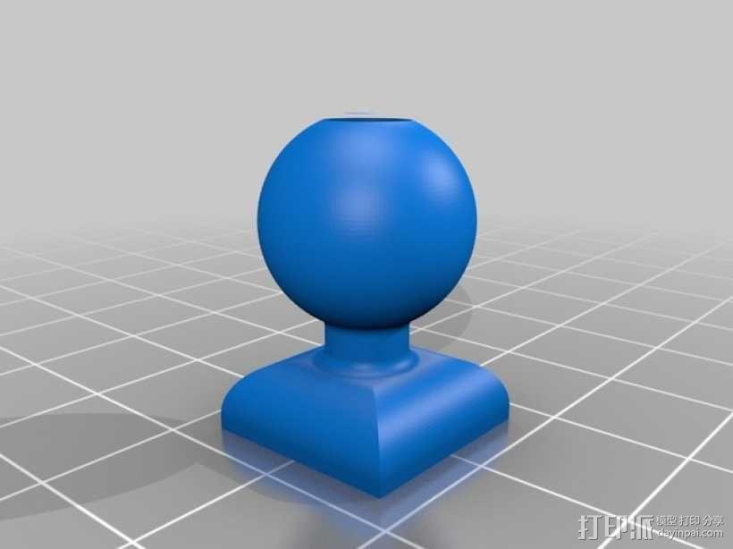 GoPro 相机悬挂式固定座 3D模型  图4
